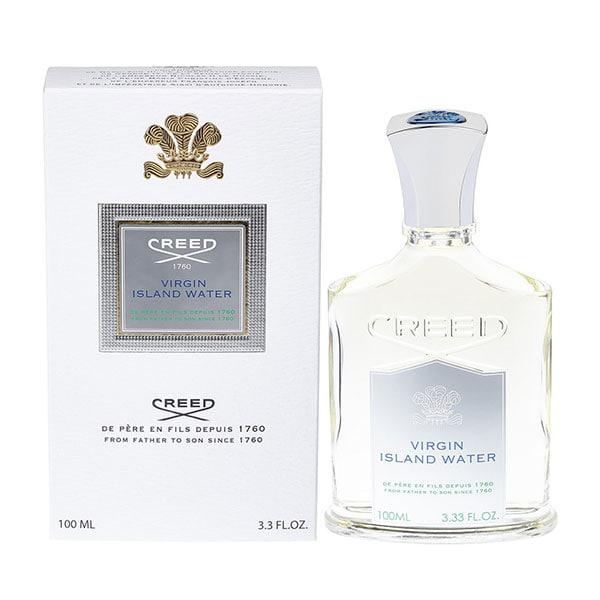 کرید ویرجین آيلند واتر از ترکیباتی مانند لیموترش، ماندارین سیسیلی، نیشکر و عرق نیشکر سفید تشکیل شده است