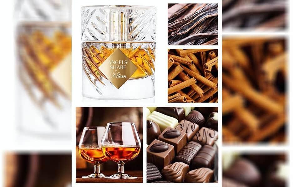 نت های پایانی عطر ادکلن بای کیلیان آنجلز شیر از چوب صندل سفید، وانیل و بادام سوخته ساخته شده است.