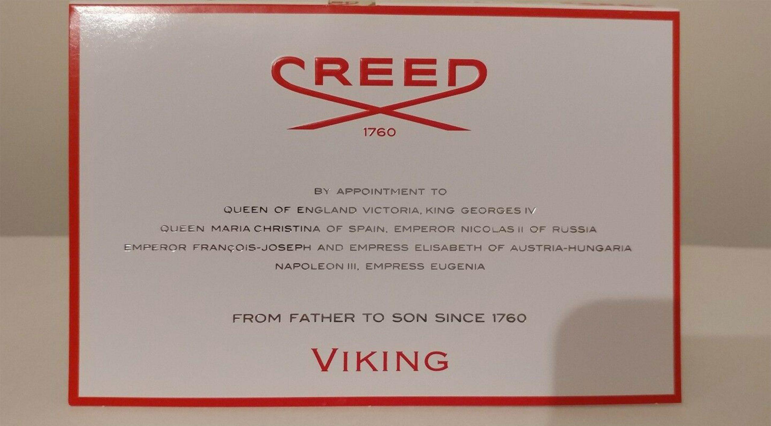 زمانی که سمپل کرید وایکینگ (Creed Viking Sample) را اسپری می کنید، ترکیبی از ترنج، فلفل صورتی، لیمو سیسیلی به مشام شما می رسد.