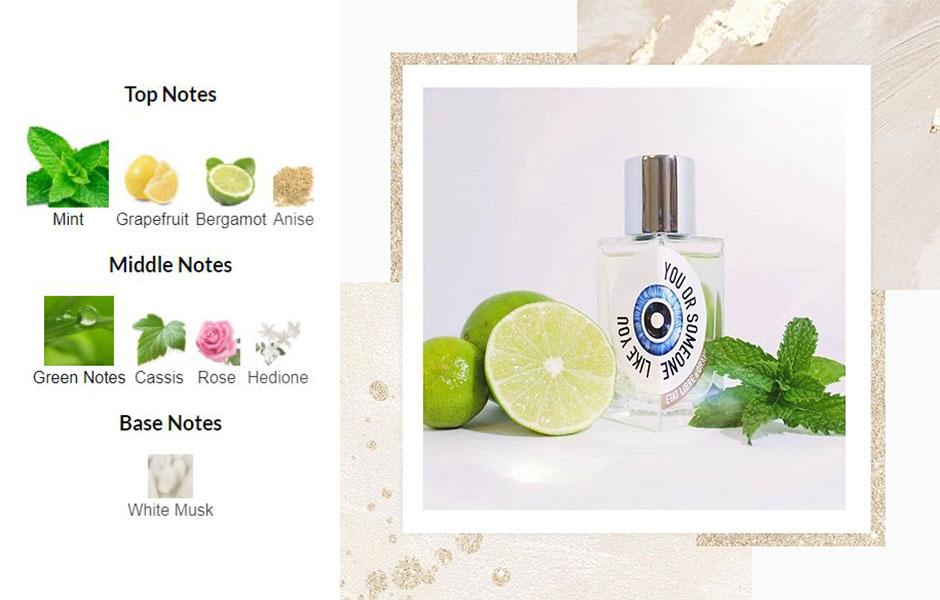 بدنه عطر یا همان نت های میانی برای یو اور ساموان لایک یو از نت های سبز، ریحان، گل رز، هدیون تشکیل شده است.
