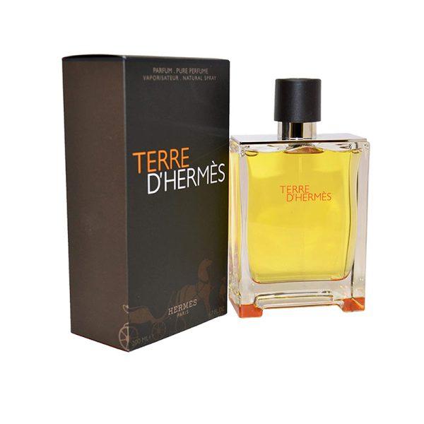 عطر ادکلن هرمس تق هرمس پرفیوم مردانه (Hermes Terre D'Hermes Parfum)، معروف ترین محصول برند هرمس است که در سال ۲۰۰۹ تولید شد.