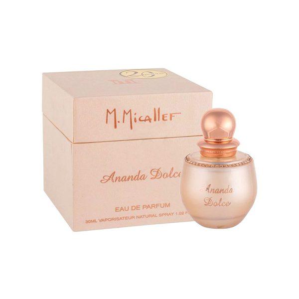عطر ادکلن ام میکالف آناندا دولچه زنانه (M.Micallef Ananda Dolce)، از بهترین و معروف ترین عطرهای برند فرانسوی ام میکالف است