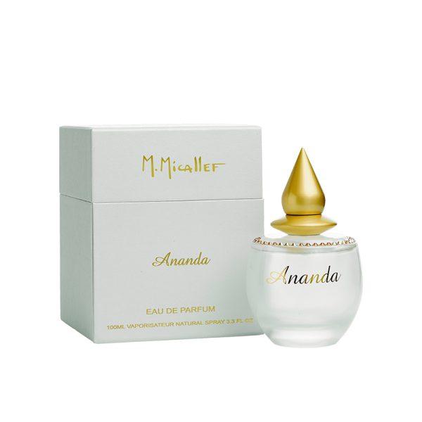 عطر ادکلن ام میکالف آناندا زنانه (M.Micallef Ananda)، یکی از محصولات برند فرانسوی ام میکالف (مارتین میکالف) است که در سال 2005 تولید شد.
