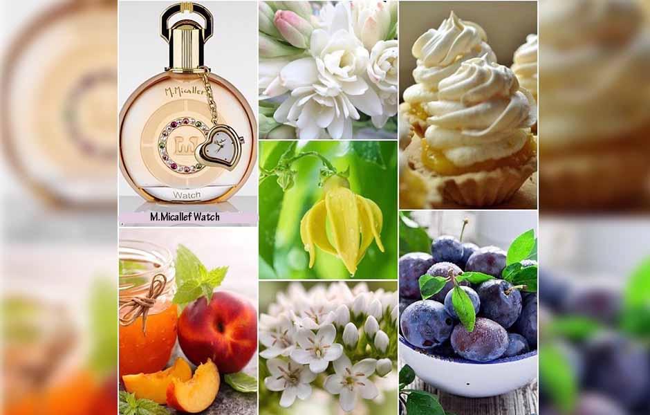عطر ادکلن مارتین میکالف watch اورجینال با ترکیب جذابی از میوه ها آغاز می شود؛ ترکیبی که از روایح پرتقال ماندارین، هلو و آلو تشکیل شده است.