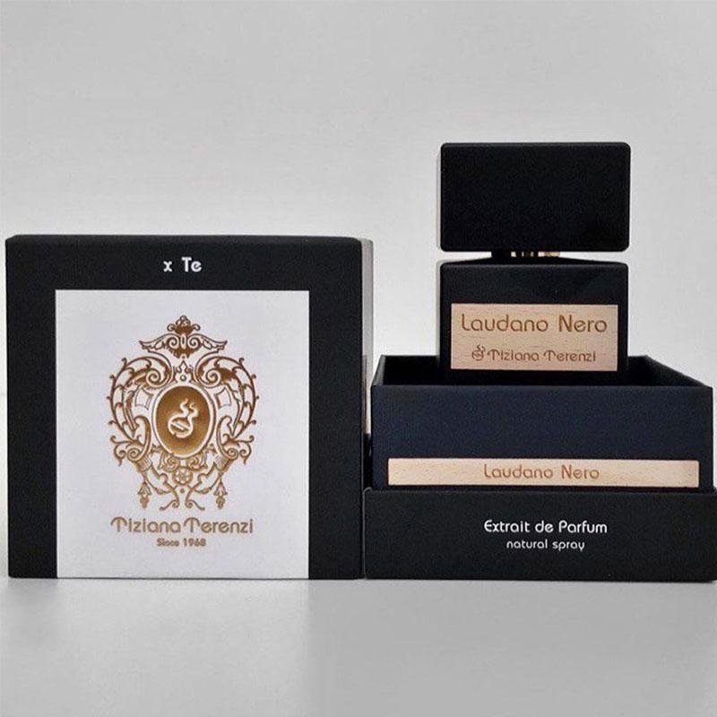 تیزیانا ترنزی لودانو نرو با غلظت Extrait De Parfum به تدریج در محیط پراکنده می شود.