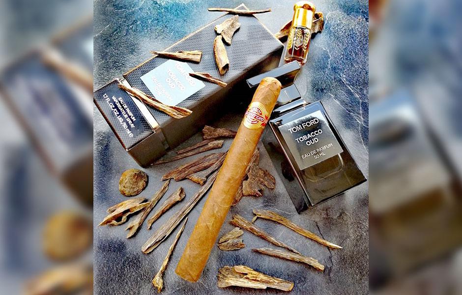 ترکیب عود و تنباکو در تام فورد توباکو عود غالب است
