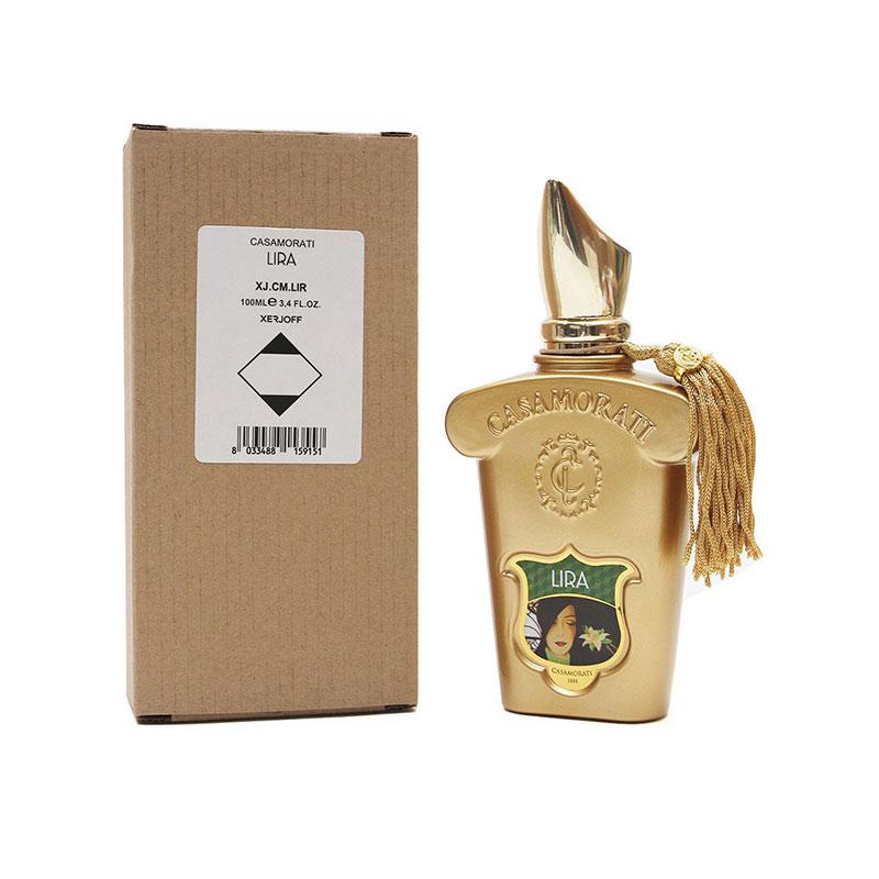 تستر اورجینال زرجف کازاموراتی لیرا زنانه نیز مانند دیگر محصولات کلکسیون برند زرجف پخش بوی زیاد و ماندگاری طولانی دارد